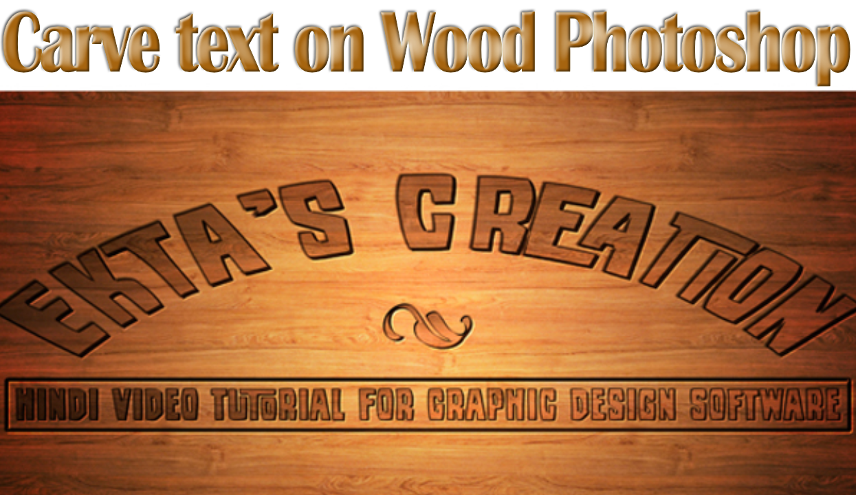 carve text on wood