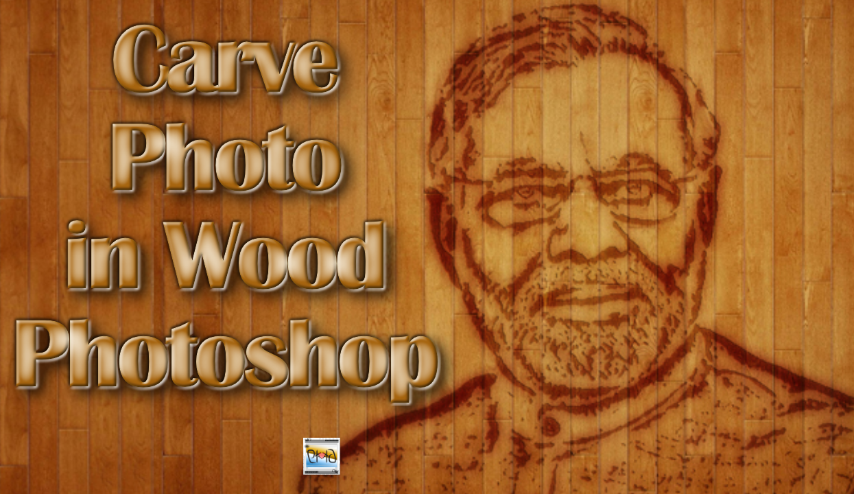 photo in wood photoshop